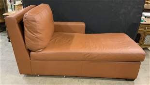 Leather Sectional Chaise