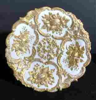 MEISSEN Signed Gilt Accented Porcelain Plate