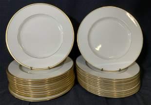 LENOX Tuxedo & Plummer Porcelain Dinner Plates, 24