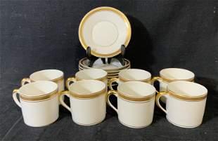 Lot of 16 VISTA ALEGRE Tea Cups and Saucers