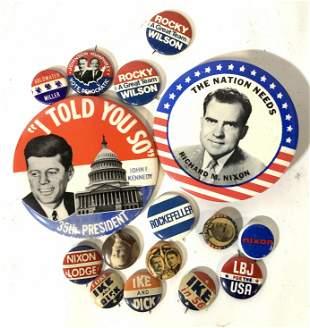 Collectible Vintage Political Campaign Buttons