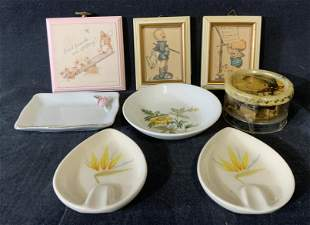 Lot of 8 Hummel Collectibles and Trinket Dishes