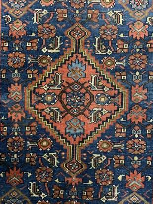 Vintage Handmade Wool Turkish Rug