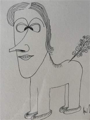 SMAU Signed Ink Drawing 1961