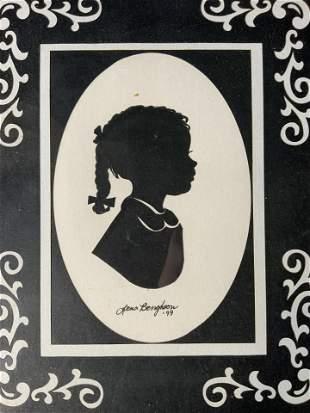 LENA BENGSTON Signed Papercut 1999