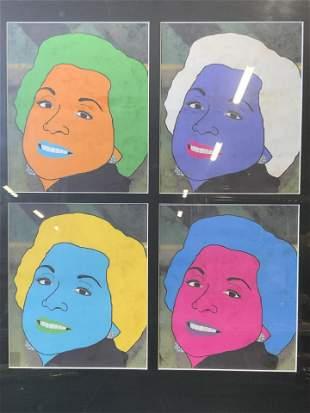 Multicolored Lithograph Portraiture