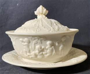 TJ & J MAYER Ceramic Serving Dish & Saucer
