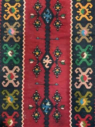 Vintage Handmade Flatweave Kilim Rug