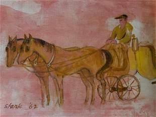 RICHARD STARK Signed Oil on Canvas