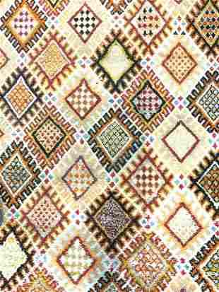 Vintage Moroccan Style Wool Pile Rug