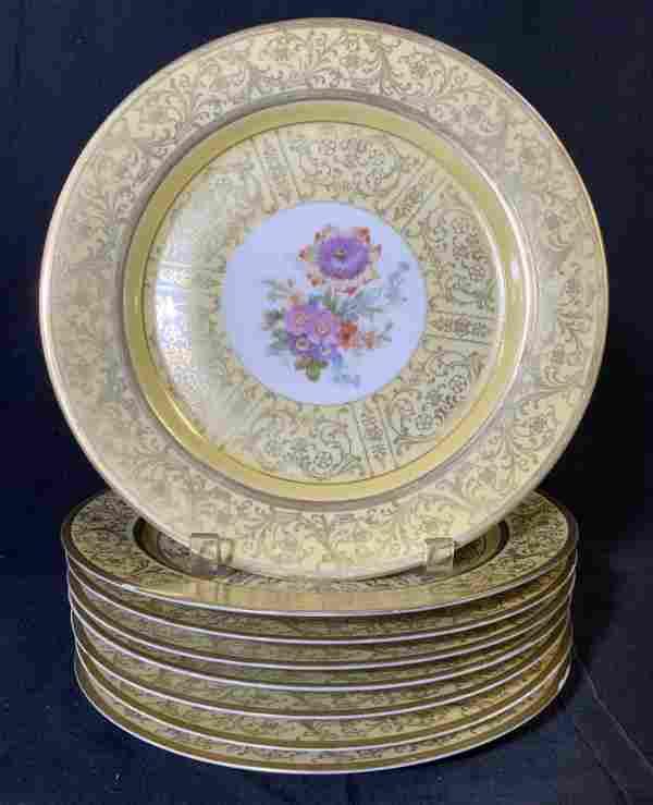 Set 8 TIRSCHENREUTH Porcelain Plates