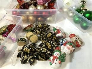 Large Lot Vintage Christmas Tree Ornaments