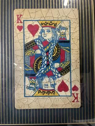 King of Hearts Playing Card Artwork