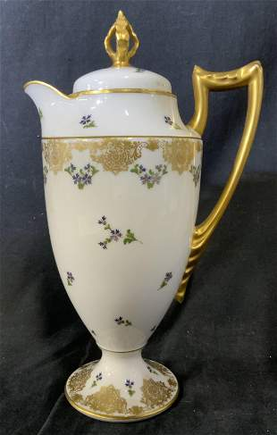 LS & S LIMOGES Porcelain Coffee Pot
