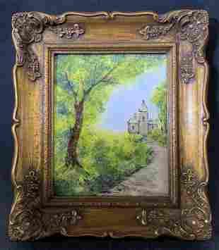 RAPHAEL Signed Enamel Painting