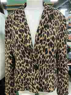 Saks Fifth Ave Animal Print Knit Blazer