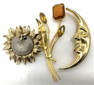 Jaded, Coro Sterling, LC Statement Brooches