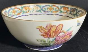 MILDRED R. MOTTAHEDEH Floral Porcelain Bowl
