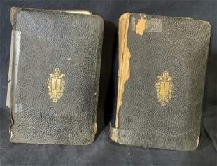 Group Lot 2 Hebrew/English Antique Prayer Books