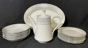 Set 14 FAIRFIELD China Dishes & Coffee Pot