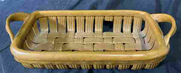 PARMENTIER Ceramic Earth Tone Basket Pottery Weave