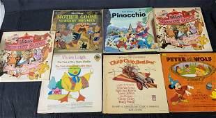 Lot 7 Vintage Disney and Children's Vinyl Records