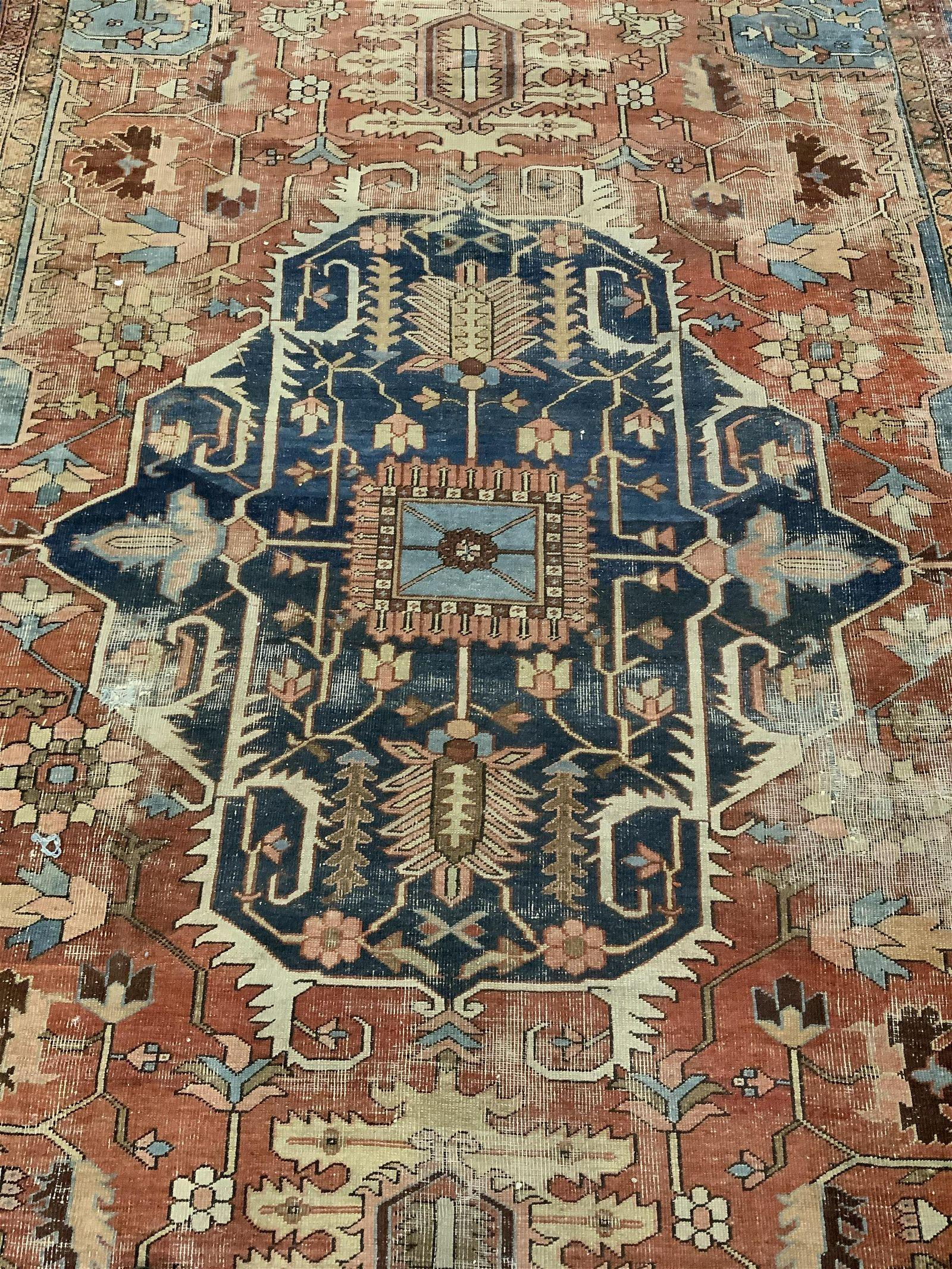 Antique Handmade Persian Wool Area Rug