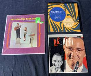Lot 3 Folk Records & Goodman Orchestra Vinyls