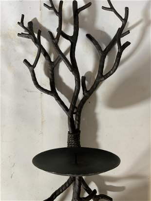 CRATE AND BARREL Metal Wall Candle Holder