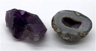 Lot 2 Amethyst and Geode