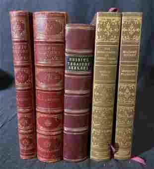 Lot 5 Vintage & Antique Books