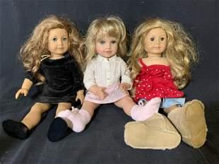 Lot 3 AMERICAN GIRL Dolls
