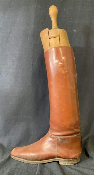 Vintage Decorative Cowboy Boot with Boot Tree
