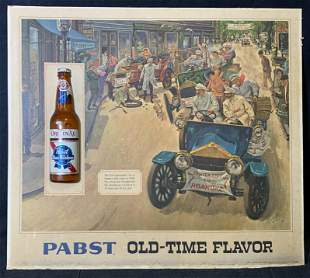 PABST Old Time Flavor Offset Litho Advertisement