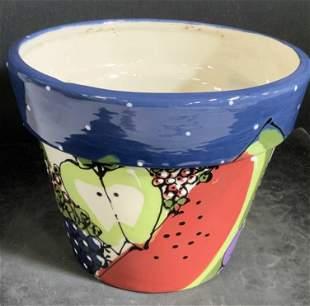 ROBIN STERLING C. 2001 Handmade Ceramic Planter