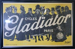 PAOLO HENRI Cycles Gladiator Lithograph