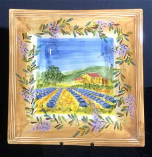 ATELIER DU SAGE French Ceramic Farm Theme Platter