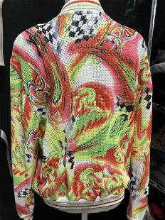 ESCADA Abstract Print Knit Cardigan, NWT