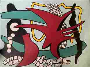 GERRE Signed Acrylic Painting