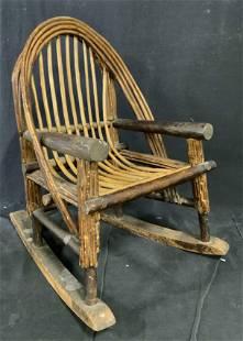 Antique Bent Wood Child's Rocking Chair