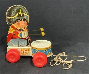Vintage Fisher Price Drummer Boy Pull Toy