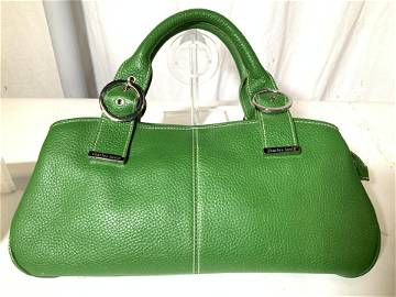 CHARLES DAVID Pebbled Leather Handbag