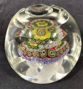 MURANO style Millefiori Retro Glass Paperweight