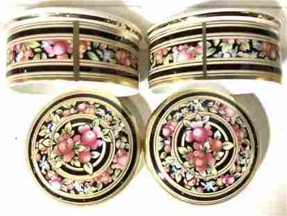 Pair WEDGWOOD Clio Porcelain Trinket Boxes