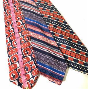 3 Vntg Wide Silk Print Designer Ties, Ungaro more