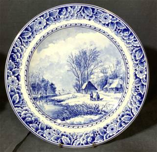 Porcelain DELFT Wall Plate #855/5000 Holland