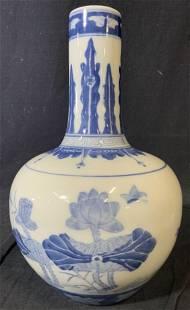 Asian Blue White Porcelain Vase