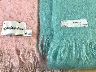 Lot 2 Designer Mohair, Wool Throws Saks, Liberty