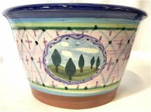 T.T Hand Painted Ceramic Planter