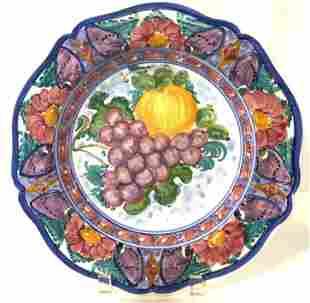 Signed Handmade Porcelain Serving Bowl